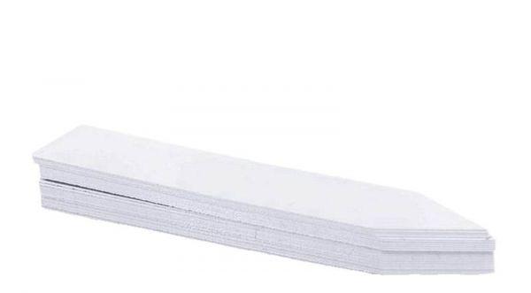50 Pflanzschildchen / Stecketiketten, weiß 10x2cm aus Kunststoff